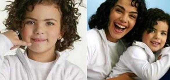 Hoje adolescente, a jovem ainda continua muito parecida com a ex-atriz global