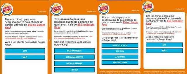 Desconto no Burger King é isca para golpe no WhatsApp - Imagem: Divulgação