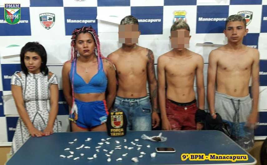 Força Tática detém grupo por tráfico de drogas e corrupção de menores em Manacapuru - Imagem: Divulgação