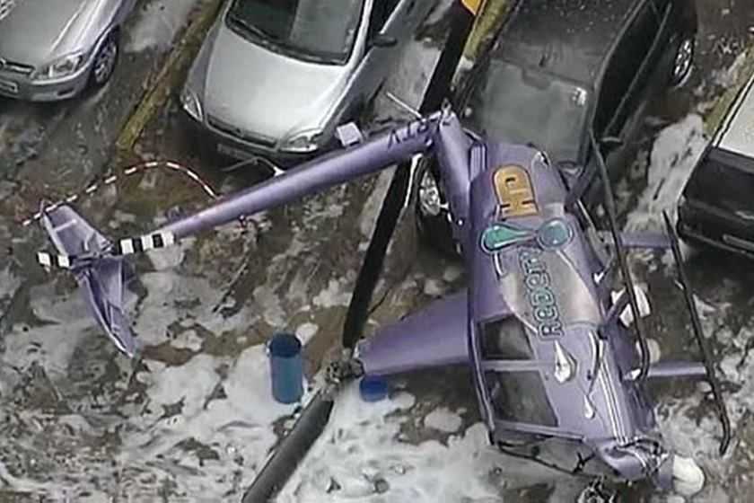 Helicóptero da RedeTV! cai em São Paulo - Imagem de divulgação