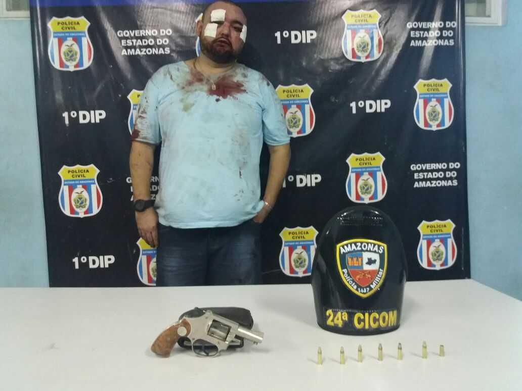 Homem é preso ao tentar entrar armado em famosa boate no centro de Manaus - Imagem: Via Whatsapp