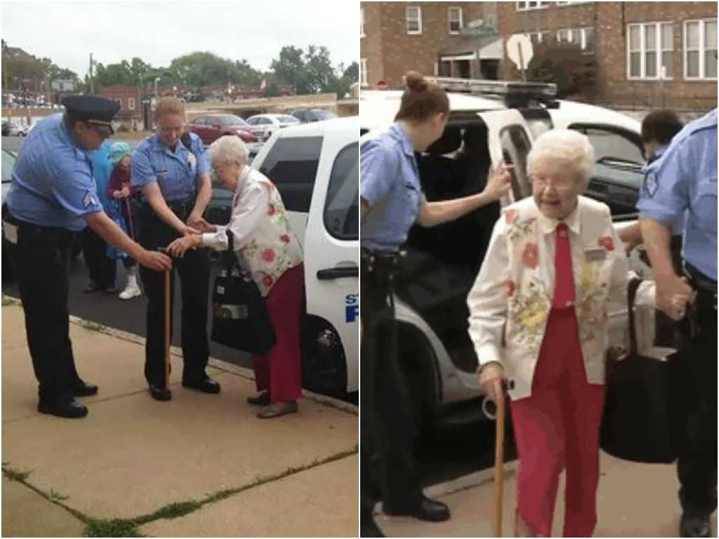 Idosa de 102 anos é presa pela polícia por motivo incomum - Imagem: Divulgação
