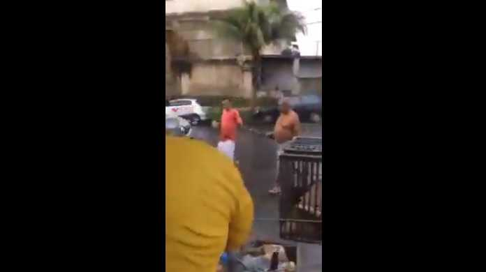 Vídeo: Idoso é agredido durante confusão no Condomínio Yael, em Manaus - Imagem: Reprodução