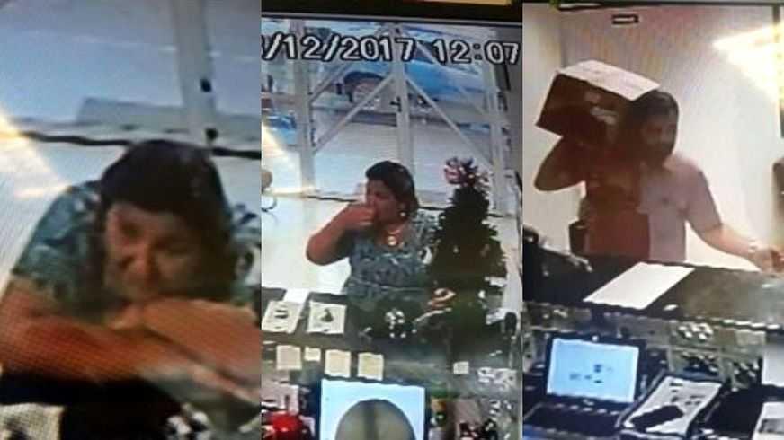 Imagens mostram ex-Primeira-dama do AM entocando objetos suspeitos - Imagem: Divulgação