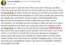 Mãe de adolescente que postou ofensas contra PM justifica que filho tem distúrbio mental - Imagem: Facebook