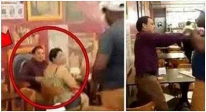 Pastor encontra-se com mulher casada e leva surra do marido dela. Toda a cena foi gravada e viralizou na internet / Foto : Reprodução Youtube