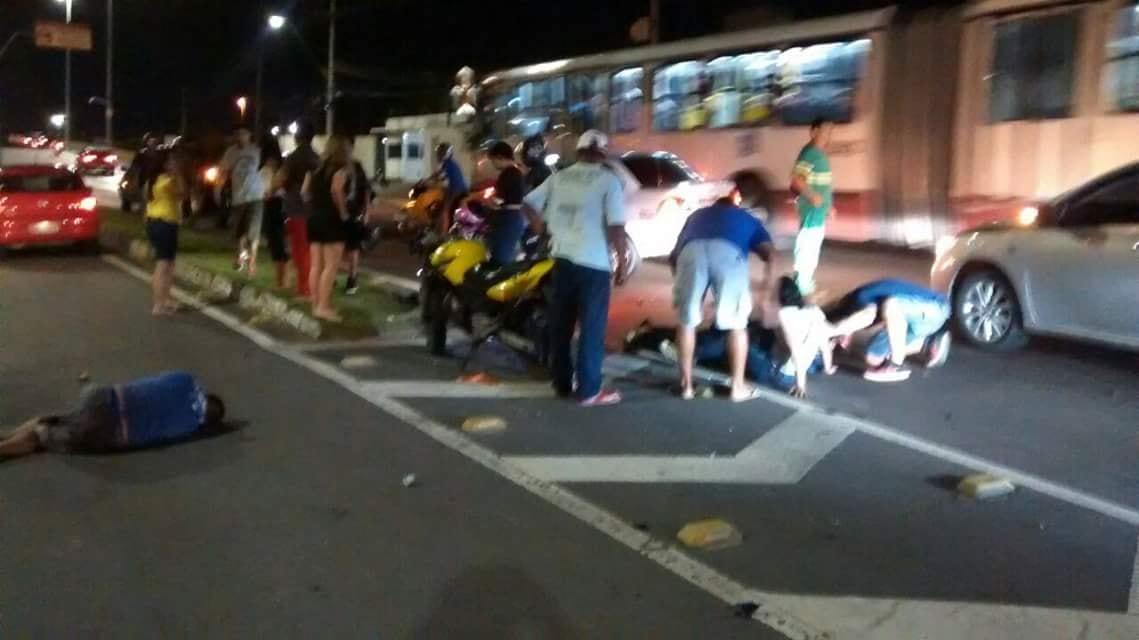 Acidente de Moto em Manaus / Foto: Divulgação