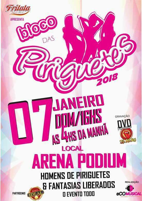 Bloco das Piriguetes 2018 agita a Arena da Amazônia nesse domingo em Manaus