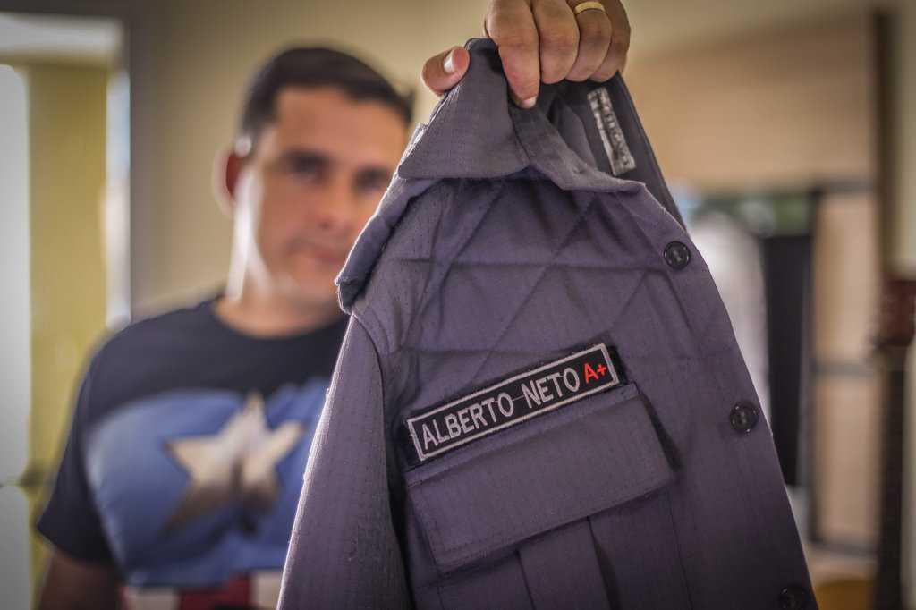 Há 10 anos na PM, Alberto Neto é o policial mais popular da corporação | Foto: Gabriel Costa / EM TEMPO