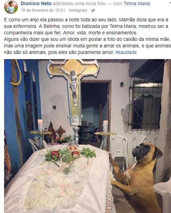 Belinha também sente saudades de sua dona Telma / Foto : Divulgação