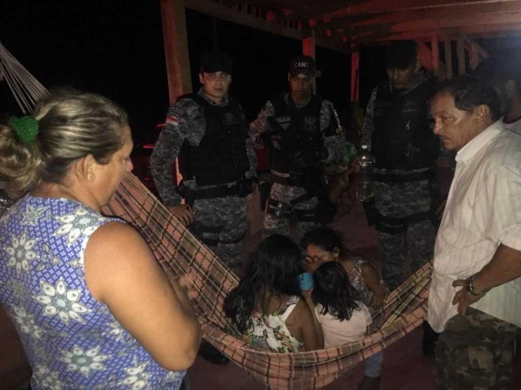 Família foi localizada por policiais e enviada a Manaus (Foto: Divulgação)
