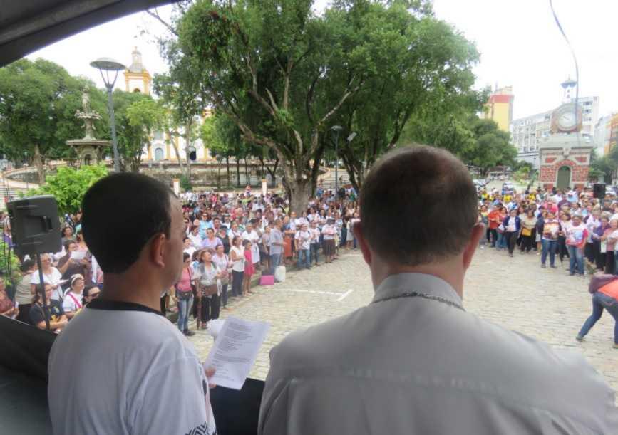 Solenidade de abertura da CF – 2018 reúne mais de mil pessoas na Praça da Matriz - Imagem: Arquidiocese de Manaus