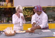 Ana Maria é flagrada limpando o nariz em pano prato usado durante receita - Imagem: Reprodução