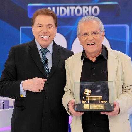 Silvio Santos e Carlos Alberto de Nóbrega Imagem: Lourival Ribeiro/SBT
