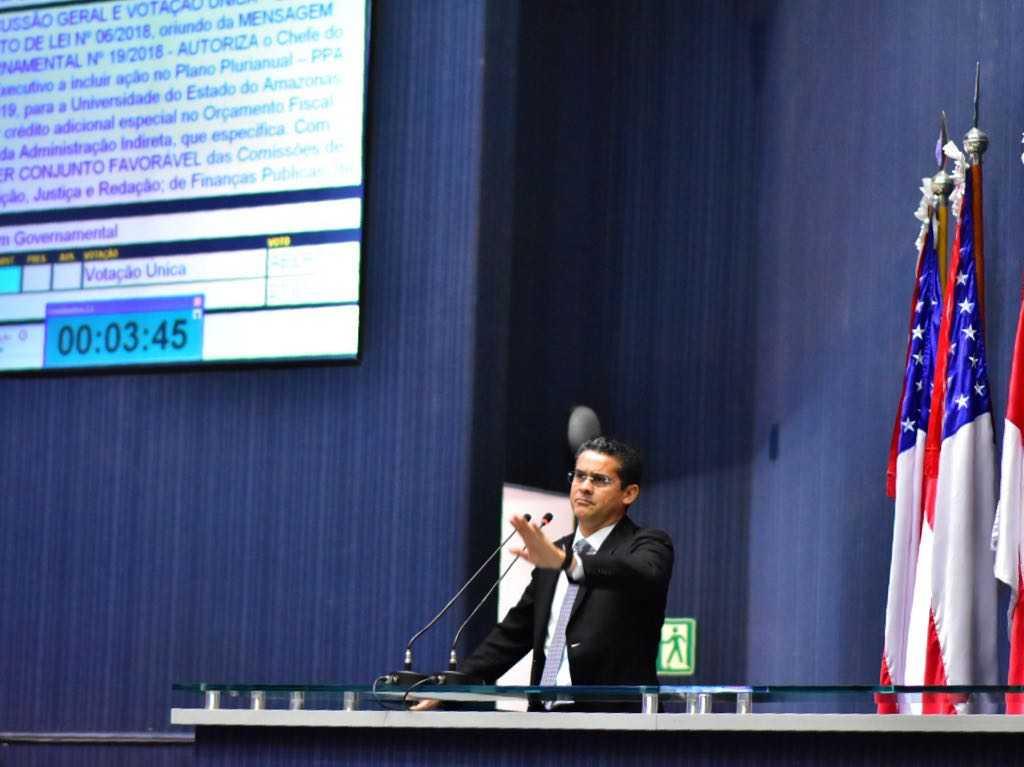 David encaminha aprovação de projeto que abre crédito financeiro a UEA / Foto: Dhyeizo Lemos