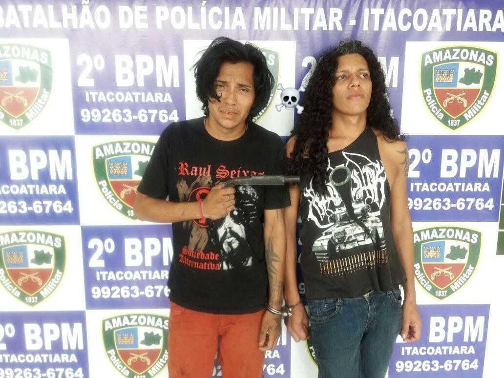 """""""Dupla medonha"""" que tentava roubar motoristas na AM-010 é presa pela polícia, no Amazonas - Imagem: Divulgação"""