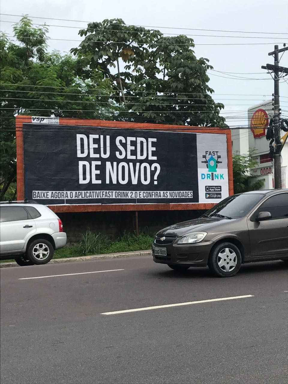 Divulgação do novo Outdoor do Fast Drink / Foto : Divulgação