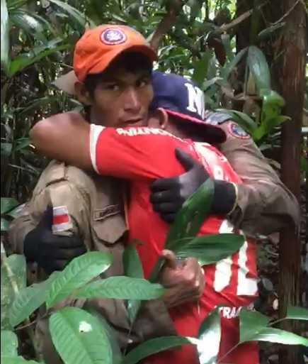 Homem é encontrado depois de ter ficado 20 dias perdido na mata, no Amazonas - Imagem: Divulgação
