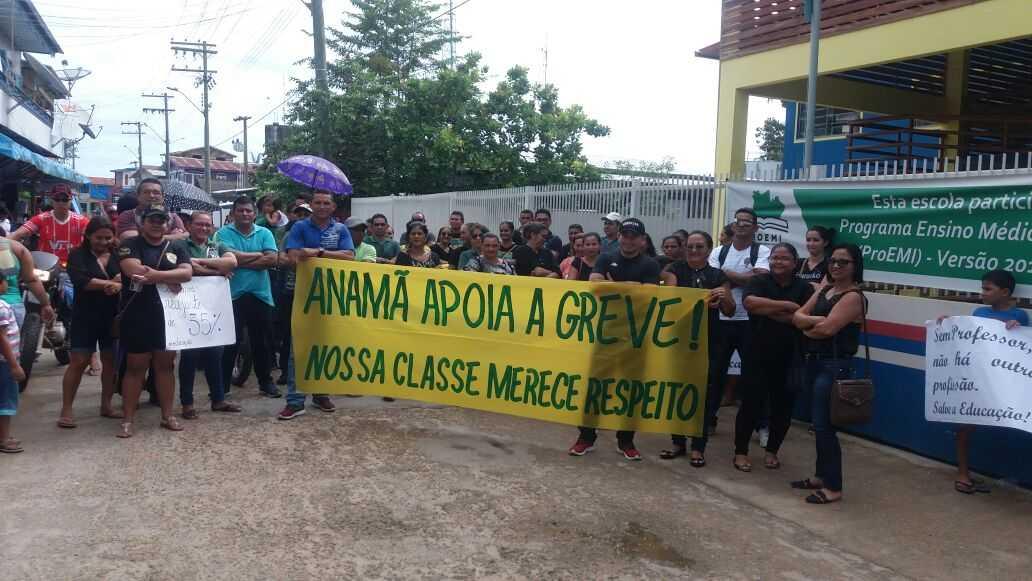 Mais de 500 escolas paralisam atividades na Capital e no interior do Amazonas - Imagem: Via Whatsapp