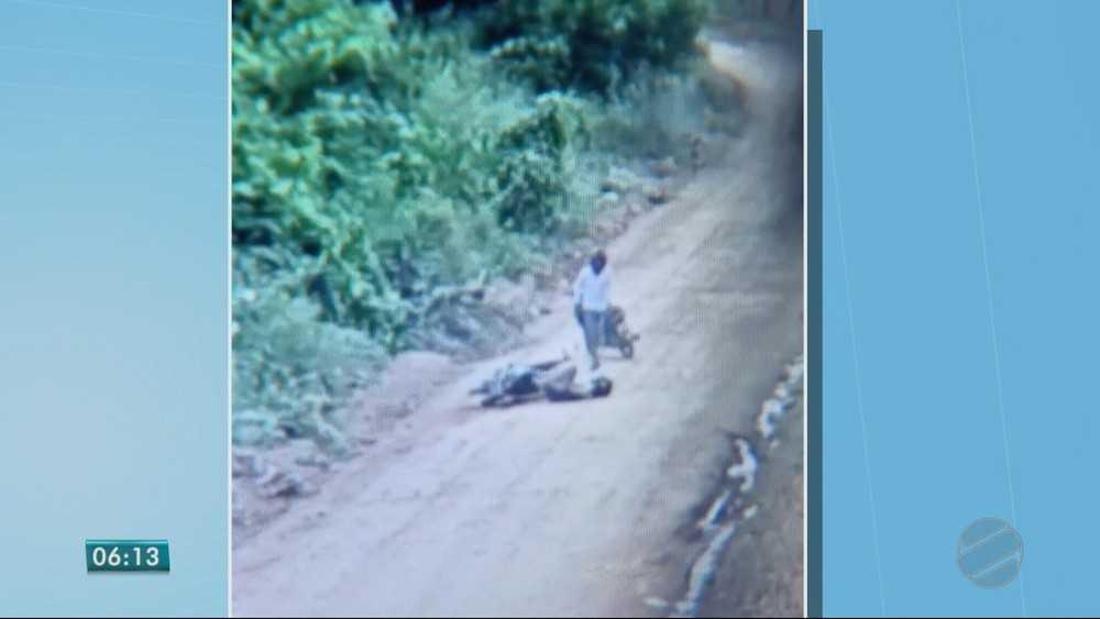 Câmeras flagraram atropelamento proposital em Cuiabá e suspeito é preso - Imagem: Reprodução