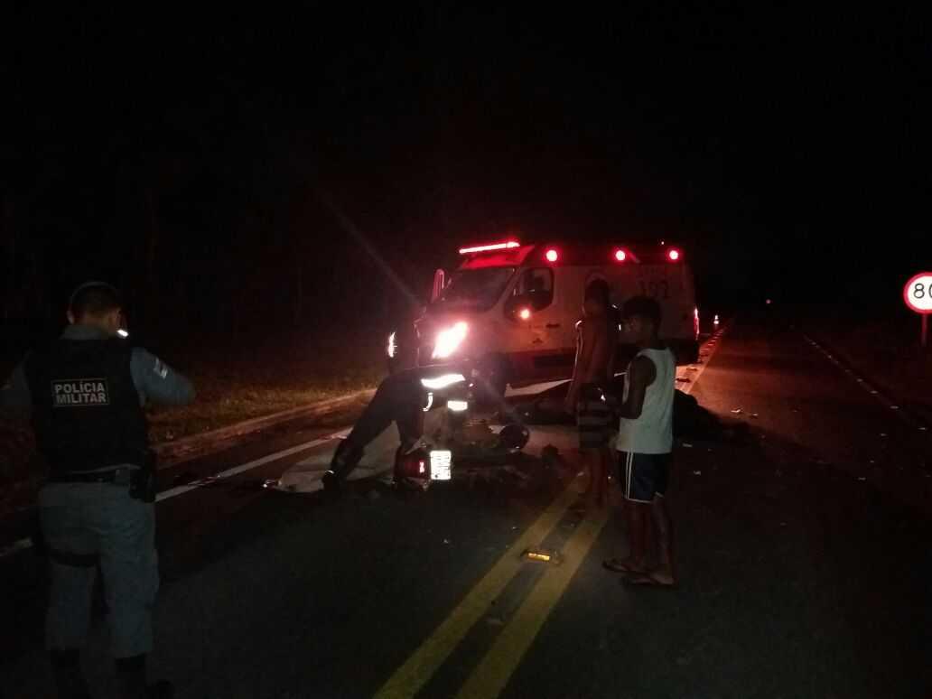 Motociclista morre após colidir com vaca no KM 23 da BR-174 - Imagem: Divulgação