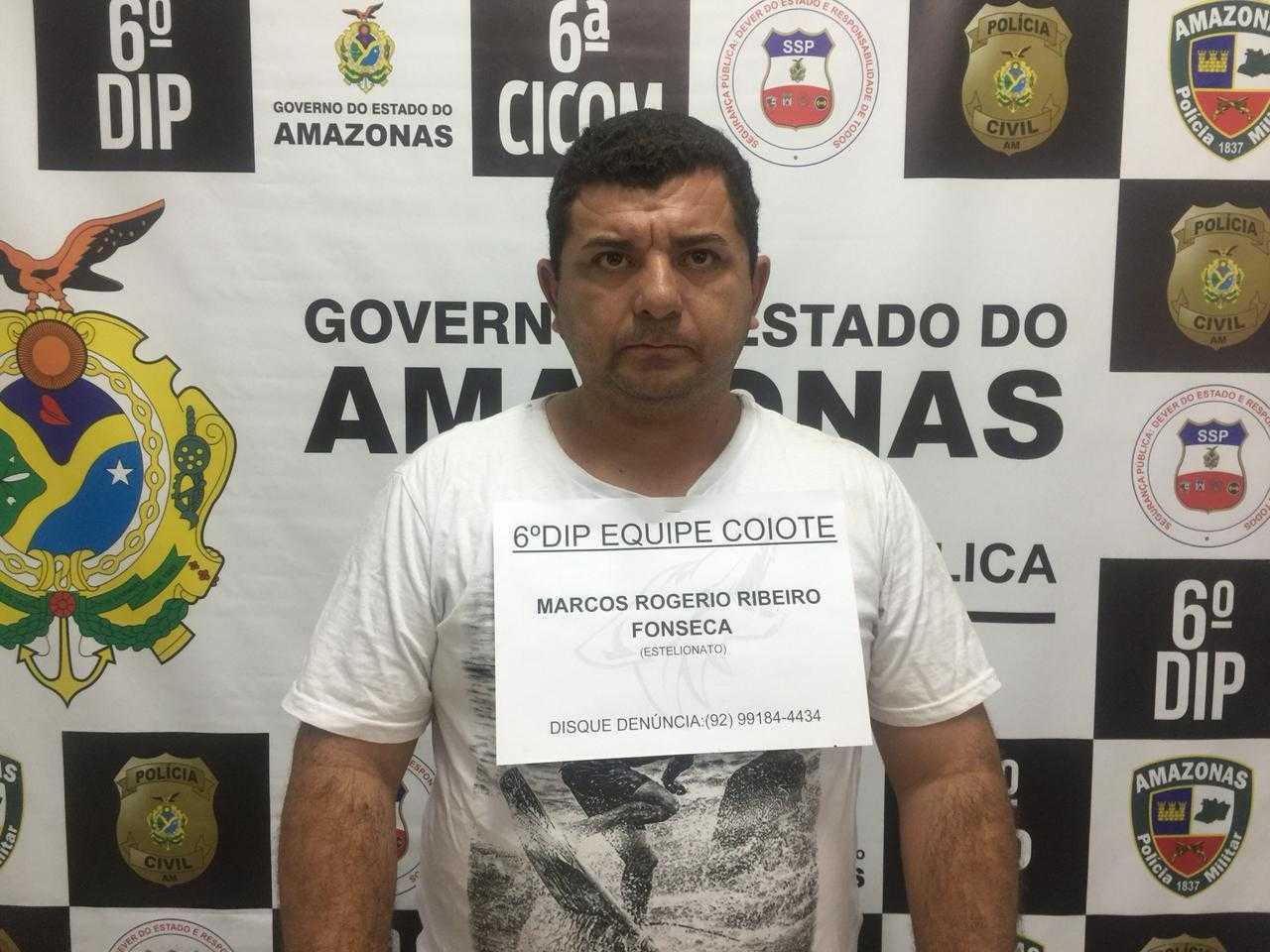 Polícia prende homem suspeito de vender passagens aéreas falsas, no Amazonas - Imagem: Divulgação