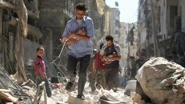 Uma maternidade foi atingida por um bombardeio em Idlib, no norte da Síria. A estrutura do prédio ficou muito danificada. / Foto : Divulgação