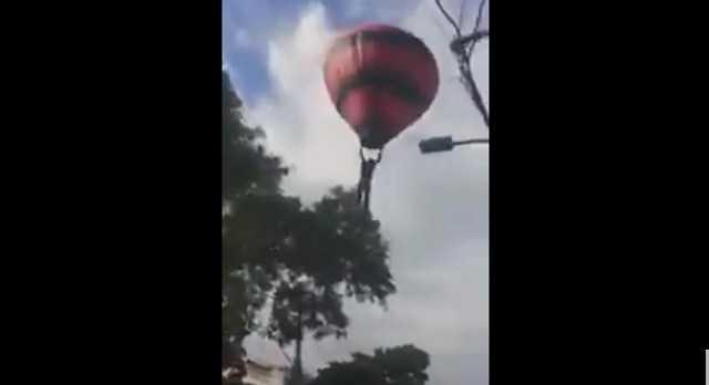 """Saiba tudo sobre o vídeo que mostra o """"corpo de um homem"""" pendurado num balão - Imagem: Divulgação"""
