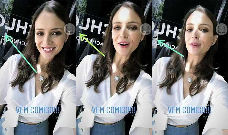 Ana Lúcia, ex-noiva do ex-bbb Lucas, fazendo merchan / Foto : Reprodução Instagram
