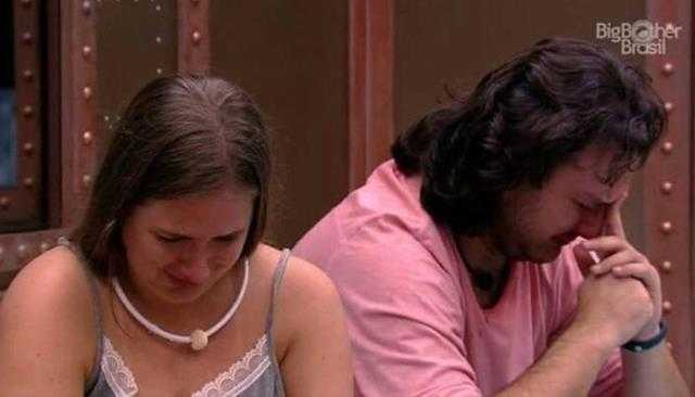 """BBB18: Patrícia e Diego choram e acreditam em uma luz no fundo do túnel """"Pode ser que a gente escape / Foto : Divulgação"""