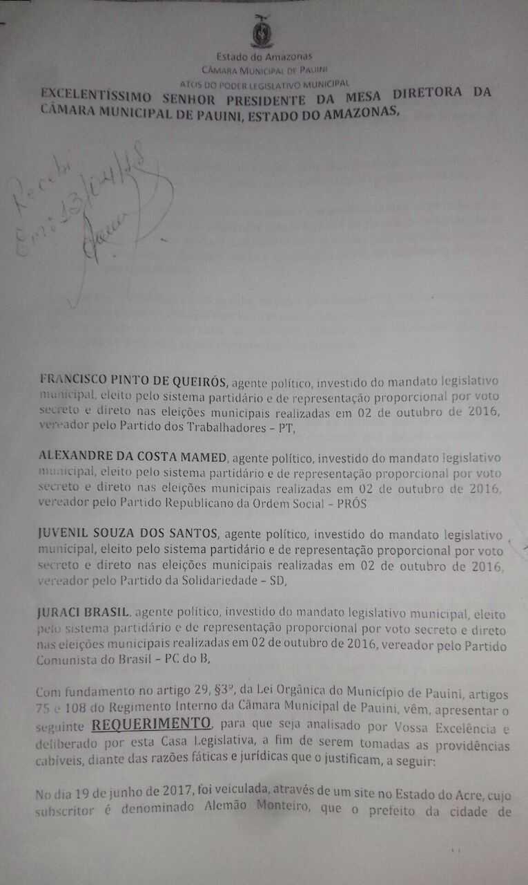 Câmara de Vereadores de Pauini blinda prefeita e impede investigação sobre superfaturamento de medicamentos - Imagem: Romário Vieira