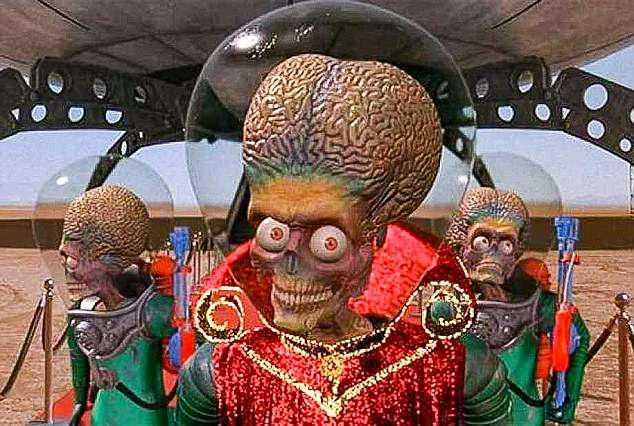 Foto: Reprodução Daily Mail – O alienígena do filme Marte Ataca