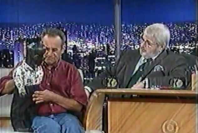 Relembre como foi a entrevista de Oscarino e seu boneco Peteleco para o Programa do Jô