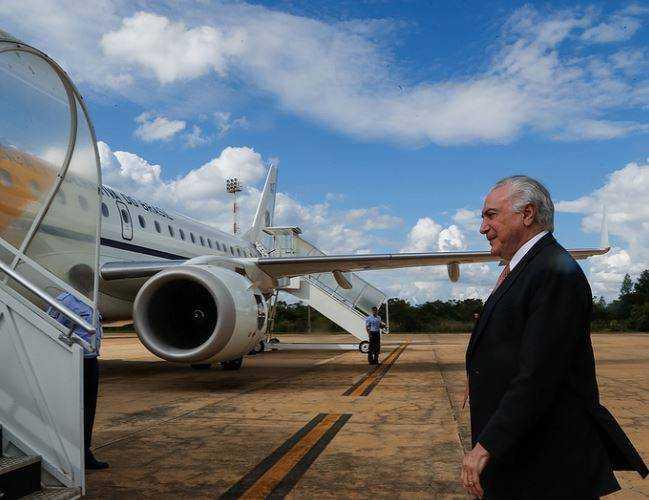 Avião de Temer fica sem combustível para longas viagens - Imagem: Divulgação