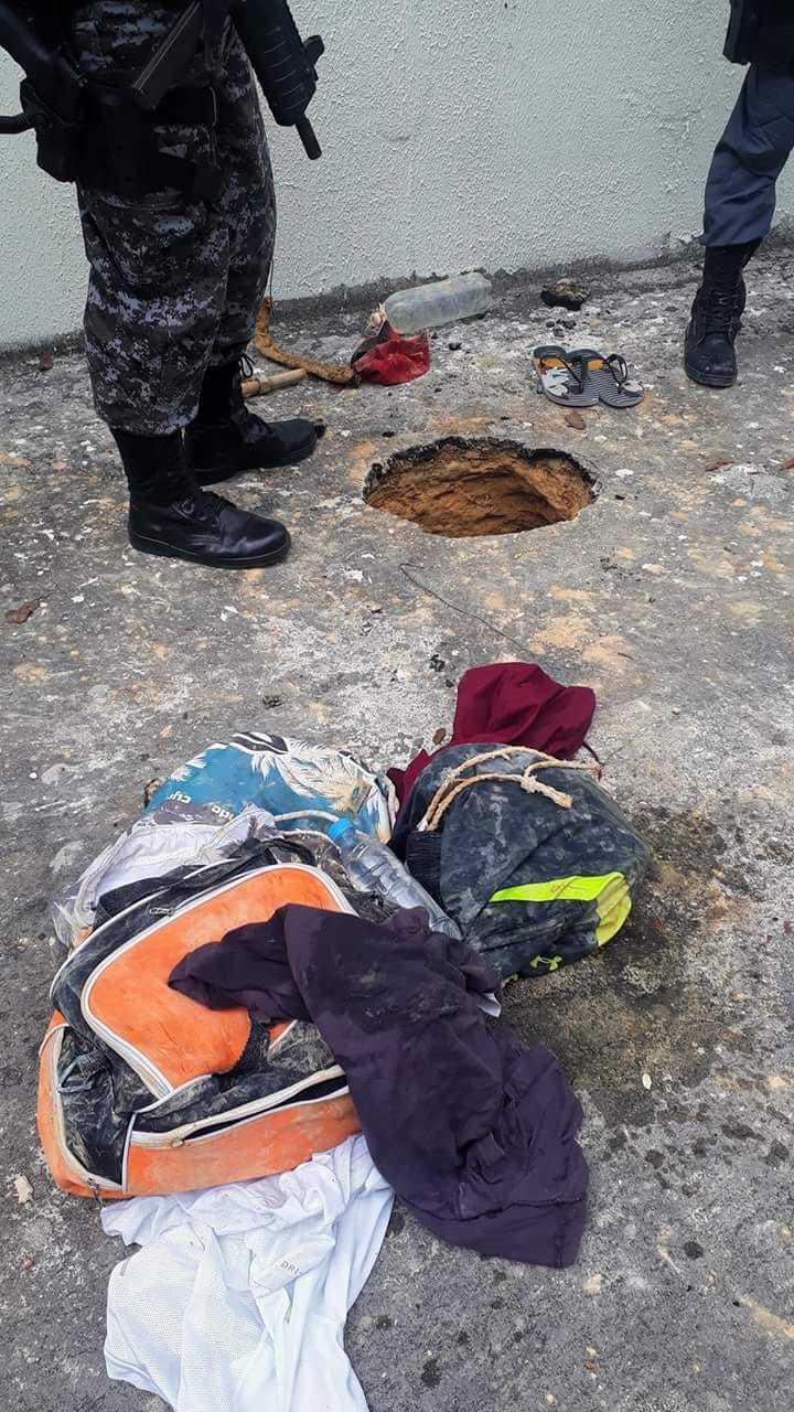 35 presos fugiram do CDPM II em Manaus -Imagem: Polícia Militar/Divulgação