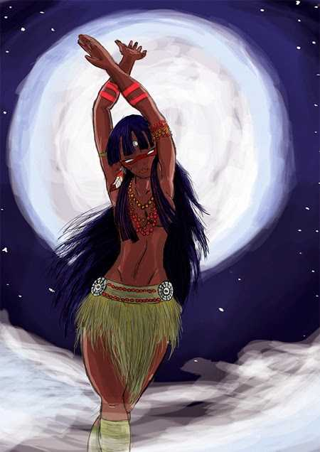 Jaci, a deusa da Lua / Ilustração Divulgação