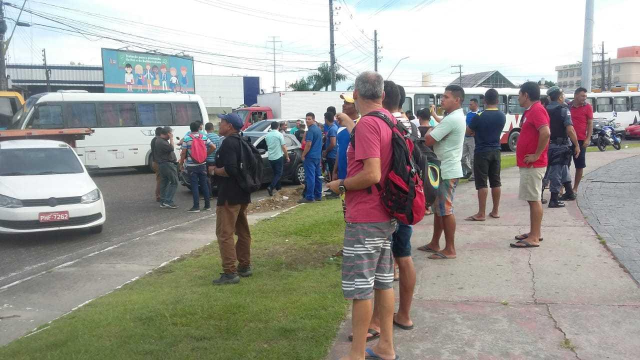 Protestos contra preço dos combustiveis, na Bola do Produtor - Imagem: Via Whatsapp