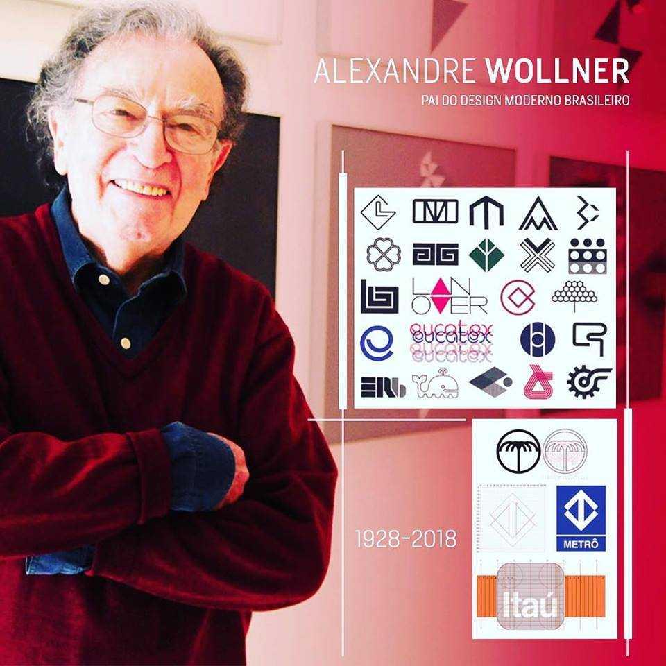 O designer Alexandre Wollner / Foto Divulgação