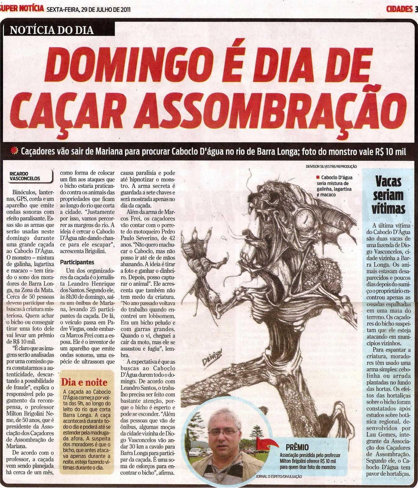 Caboclo D'Água no rio de Barra Longa vira prêmio / Foto : Divulgação