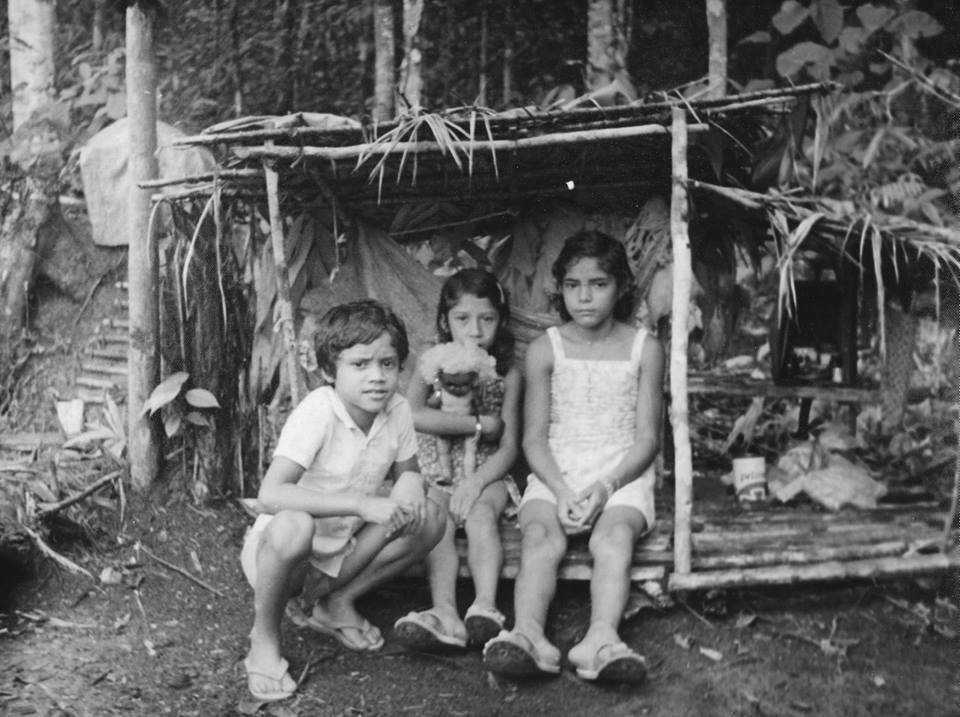 Crianças em Codajás antigamente / Foto : Divulgação