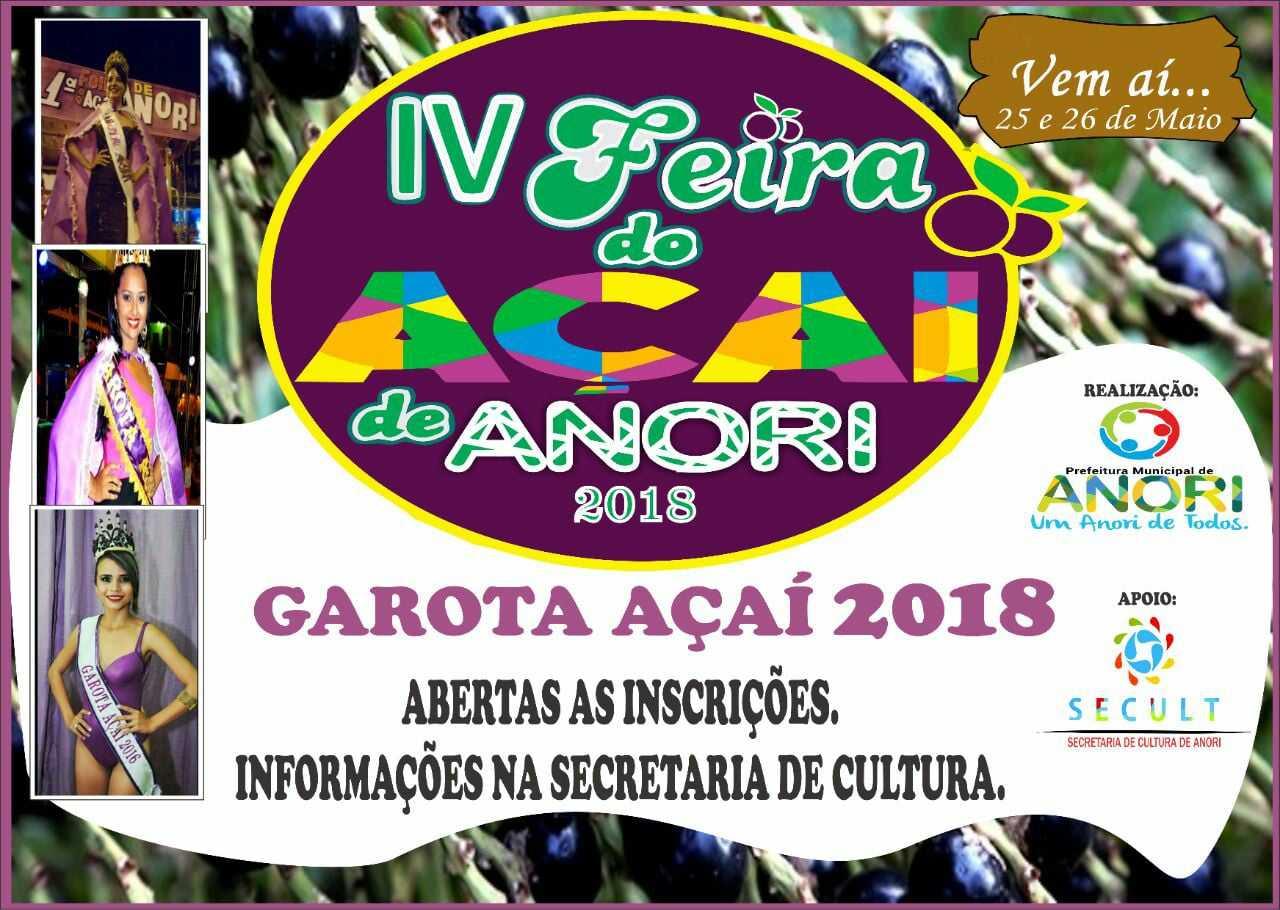 4ª feira do Açaí de Anori e Garota Açaí 2018
