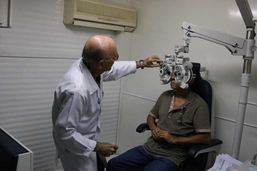 Mutirão oftalmológico da Prefeitura atende até quarta a aposentados e pensionistas / Foto : Luíza Parente / Divulgação