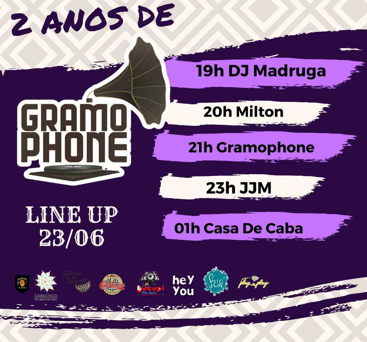 Banda Gramophone comemorará 2 anos com mega show