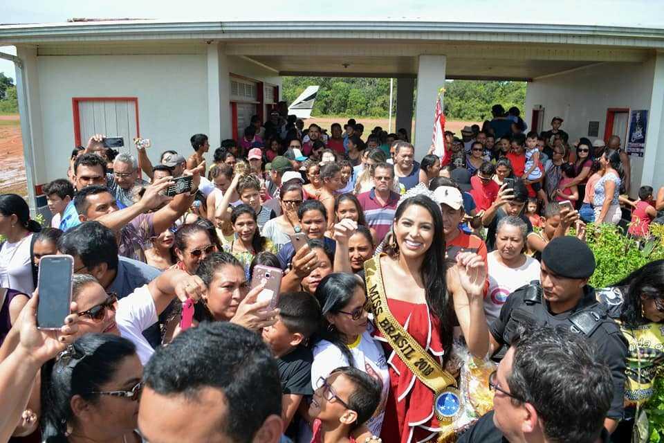 Emoção: Miss Brasil, Mayra Dias, visita Nova Olinda do Norte, cidade onde cresceu - Imagem:     Prefeitura de Nova Olinda do Norte