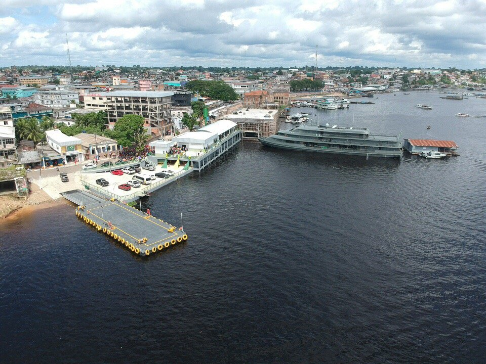 Porto de Tefé é inaugurado pela prefeitura neste sábado, população comparece em peso para prestigiar - Imagem: André Amazonas