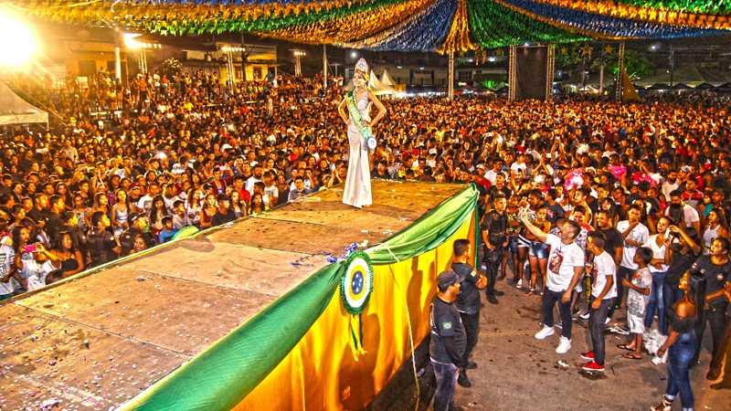 Jamine Barão foi a vencedora do concurso Miss Tefé 2018 / Foto : Marcus Pessoa / No Amazonas é Assim