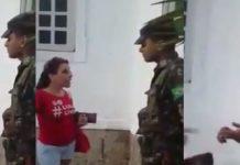 """Petista surta após militar negar sua entrada em quartel usando a camiseta """"Lula Livre""""; assista"""