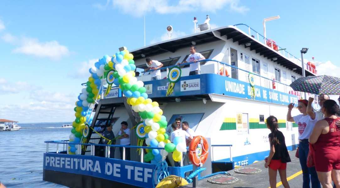 No Amazonas: Tefé ganha primeira UBS Fluvial do município / Foto : No Amazonas é Assim