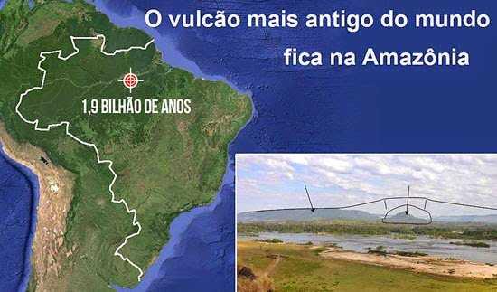 Você sabia que existe vulcão no Brasil ? Sim, existe, e o mais antigo do planeta está localizado na Amazônia - Imagem: Divulgação