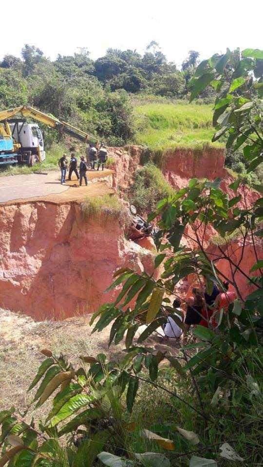 Acidente na Estrada da Êmade deixa vítima fatal em Tefé | Foto: Divulgação/ BPM-PMAM